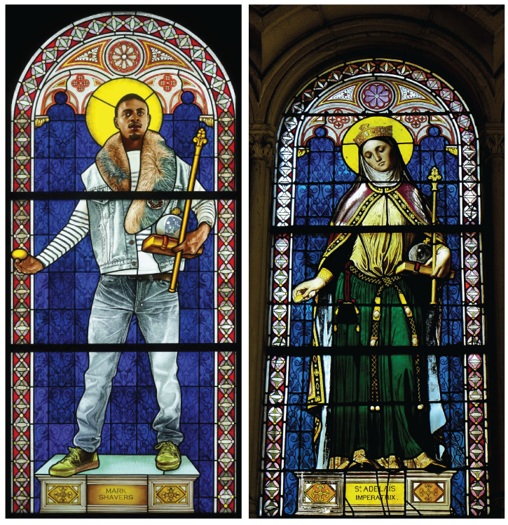 Saint Adelaide (Rechts: Kehinde Wiley, 2014 - Links: Jean-Auguste-Dominique Ingres, 1842)
