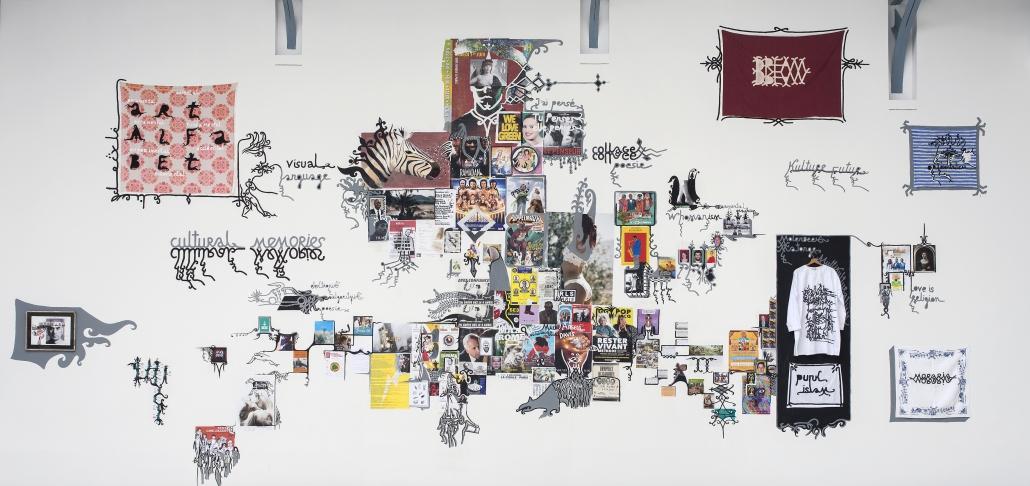 Babi Badalov - installatiezicht Soul Mobilisation © Isabelle Arthuis Fondation d'entreprise Hermès
