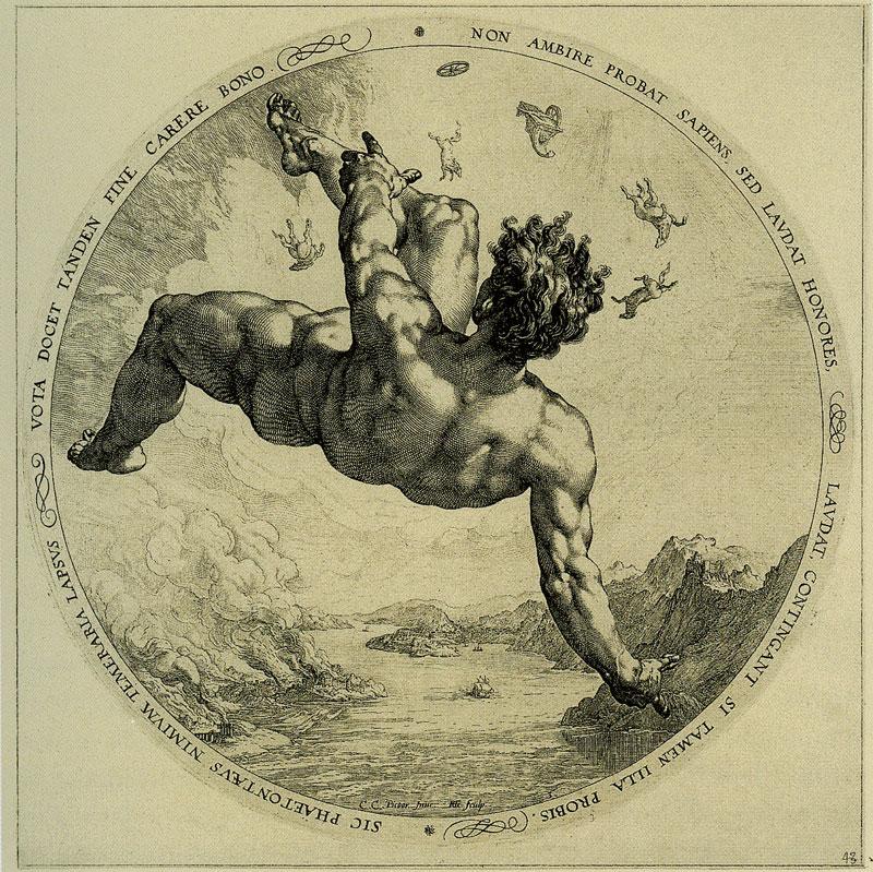 Hendrick Goltzius - De val van Phaëton (1588)