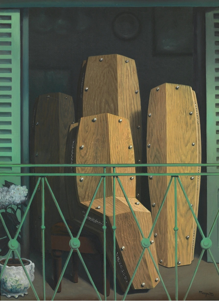 René Magritte - Perspectief II - Het balkon van Manet (1950)